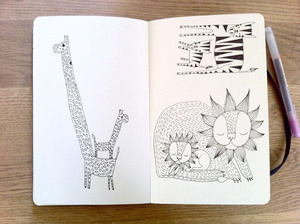 scketches animals