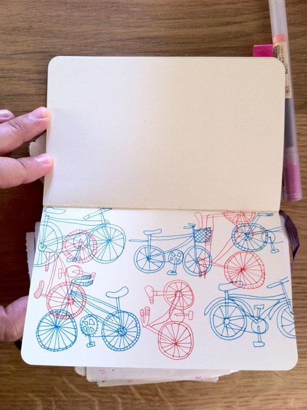 scketches bici